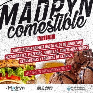 Extienden la convocatoria para el Madryn Comestible virtual del mes de julio